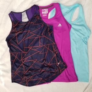 Lot of 3 Tanks - Adidas, Champion, & Under Armour